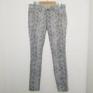 Rich & Skinny   Gray Python Print Stretch Jeans 27